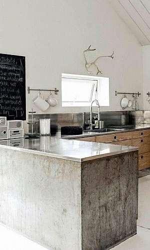 Bancada cozinha inox sob medida