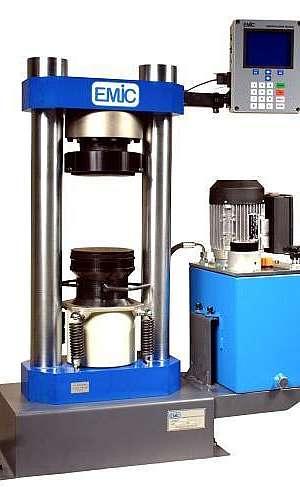 Calibração de prensa de concreto