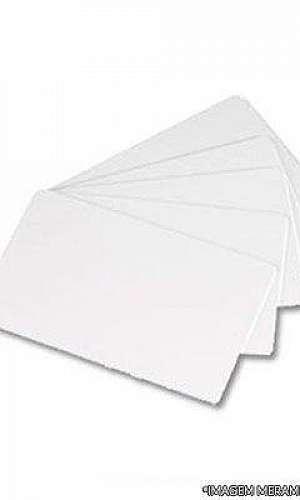 cartão de pvc branco