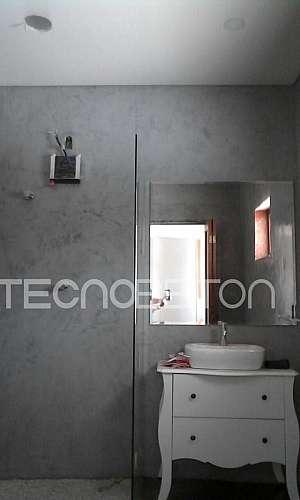 Cimento queimado banheiro