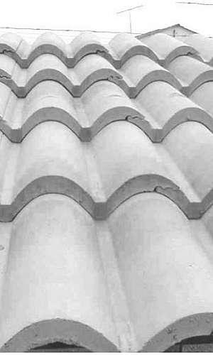Forma para fazer telha de cimento