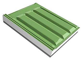 Molde para telha de concreto