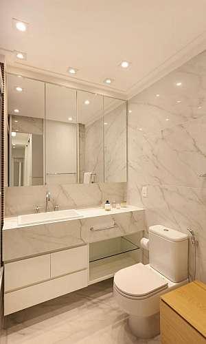 Revestimento de mármore para banheiro